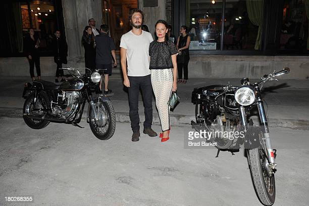 Evan Moss and artist Yelena Yemchuk attend Matchless London and AnOther magazine host intimate cocktails and dinner during New York Fashion Week at...