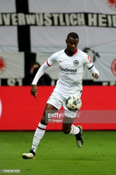 Evan NDicka of Eintracht Frankfurt during the DFB Cup quarterfinal match between Eintracht Frankfurt and Werder Bremen at Commerzbank Arena on March...