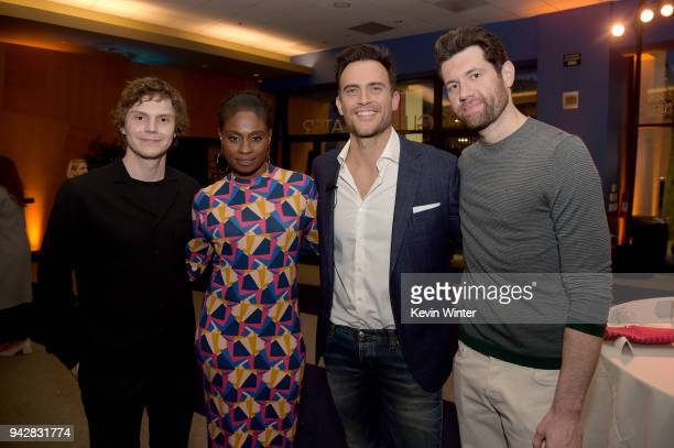 Evan Peters Adina Porter Cheyenne Jackson and Billy Eichner attend the 'American Horror Story Cult' For Your Consideration Event at The WGA Theater...