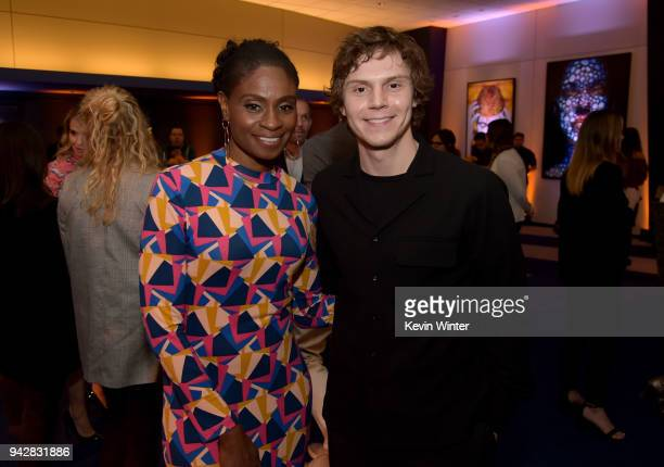 Evan Peters and Adina Porter attend the 'American Horror Story Cult' For Your Consideration Event at The WGA Theater on April 6 2018 in Beverly Hills...