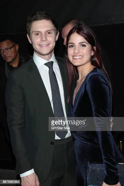 Evan Peters and Kiana Madani are seen on December 6 2017 in Los Angeles CA