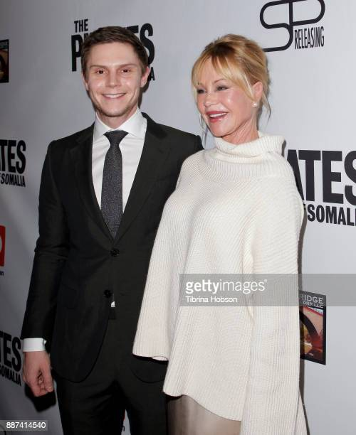Evan Peters and Melanie Griffith attend the premiere of 'The Pirates Of Somalia' at TCL Chinese 6 Theatres on December 6 2017 in Hollywood California