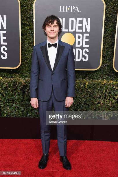 Evan Peters attends the 76th Annual Golden Globe Awards at The Beverly Hilton Hotel on January 6, 2019 in Beverly Hills, California.
