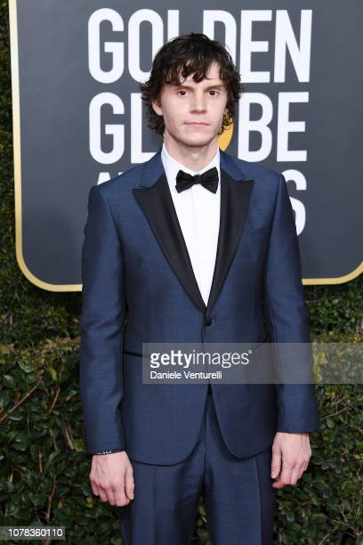 Evan Peters attends the 76th Annual Golden Globe Awards at The Beverly Hilton Hotel on January 6 2019 in Beverly Hills California