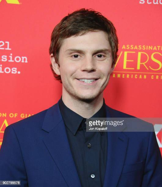 Evan Peters attends the Los Angeles Premiere 'The Assassination Of Gianni Versace American Crime Story' at ArcLight Hollywood on January 8 2018 in...