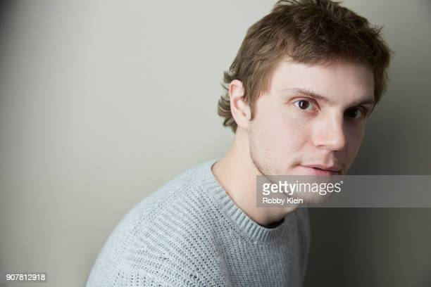 Evan Peters from the fim 'American Animals' poses for a portrait at the YouTube x Getty Images Portrait Studio at 2018 Sundance Film Festival on...