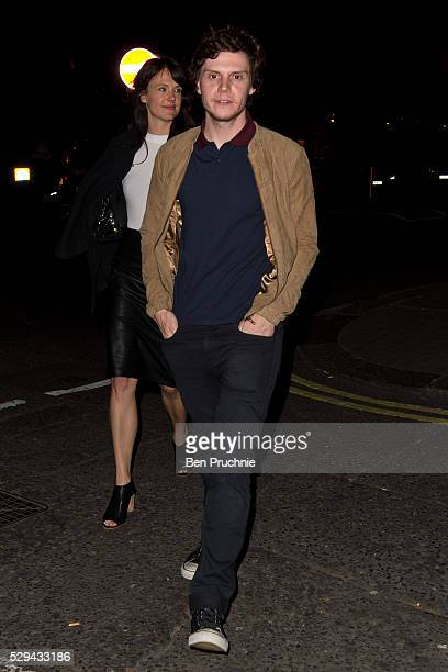 Evan Peters sighted departing Sexy Fish restaurant on May 8 2016 in London England