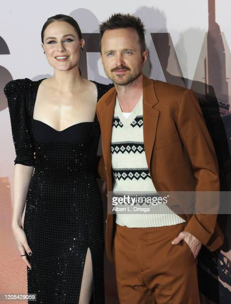 """Evan Rachel Wood and Aaron Paul arrive for the Premiere Of HBO's """"Westworld"""" Season 3 held at TCL Chinese Theatre on March 5, 2020 in Hollywood,..."""