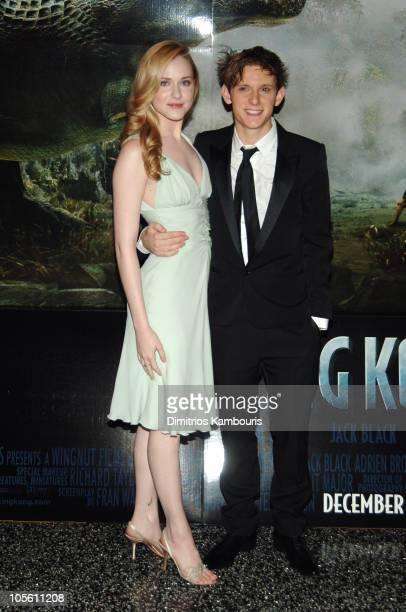 Evan Rachel Wood and Jamie Bell during Universal Pictures' 'King Kong' New York City Premiere Inside Arrivals at Loews EWalk and AMC Empire Cinemas...