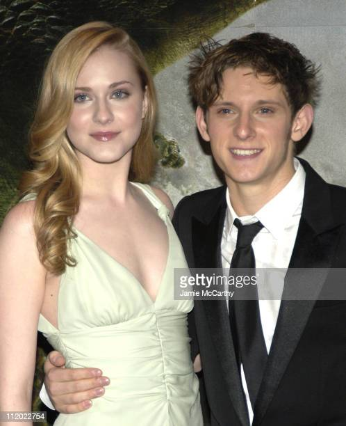 Evan Rachel Wood and Jamie Bell during Volkswagen Supports Universal Pictures' 'King Kong' New York City Premiere at Lowes EWalk and AMC Empire 25 in...