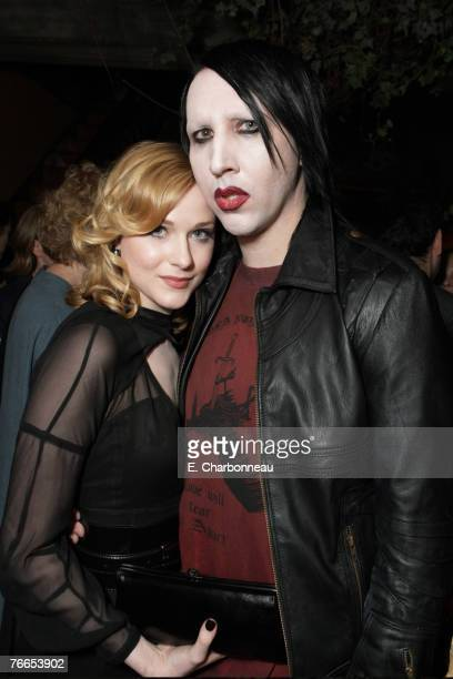 "Evan Rachel Wood and Marilyn Manson at the Gala Screening of Sony Pictures ""Across The Universe"" during the 2007 Toronto International Film Festival..."