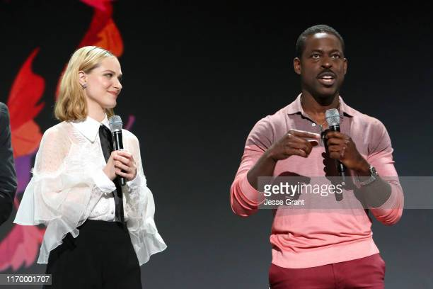 Evan Rachel Wood and Sterling K Brown of 'Frozen 2' took part today in the Walt Disney Studios presentation at Disney's D23 EXPO 2019 in Anaheim...