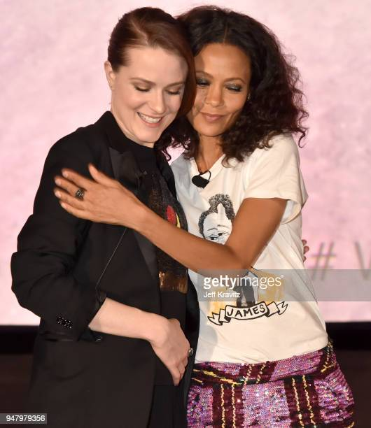 Evan Rachel Wood and Thandie Newton attend the FYC Event for HBO's WESTWORLD Season 2 at ArcLight Cinemas Cinerama Dome on April 17 2018 in Hollywood...