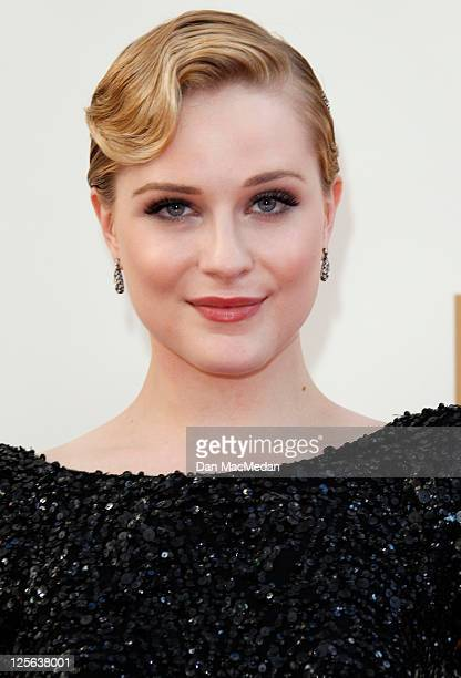 Evan Rachel Wood arrives at the 63rd Primetime Emmy Awards held at Nokia Theatre LA Live on September 18 2011 in Los Angeles California