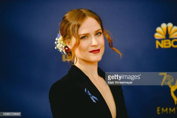 Evan Rachel Wood arrives at the 70th Emmy Awards on September 17 2018 in Los Angeles California
