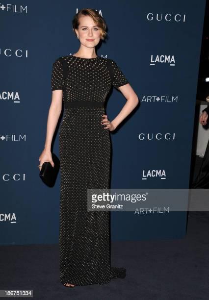 Evan Rachel Wood arrives at the LACMA 2013 Art + Film Gala at LACMA on November 2, 2013 in Los Angeles, California.