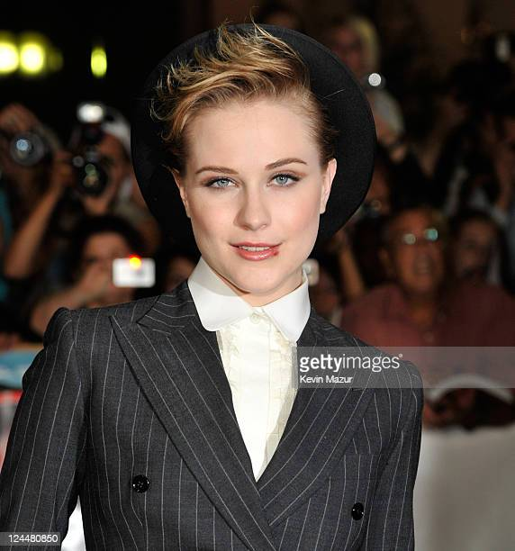 Evan Rachel Wood arrives to The Ides Of March premiere at Roy Thomson Hall during the 2011 Toronto International Film Festival on September 9 2011 in...