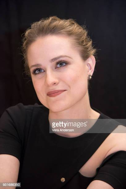Evan Rachel Wood at the 'Westworld' Press Conference at the Montage Hotel on March 13 2018 in Beverly Hills California