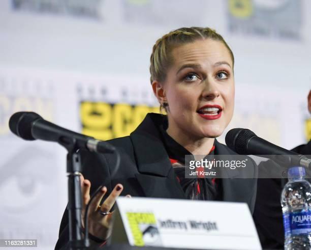"Evan Rachel Wood at ""Westworld"" Comic Con Panel 2019 on July 20, 2019 in San Diego, California."
