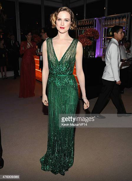Evan Rachel Wood attends the 2014 Vanity Fair Oscar Party Hosted By Graydon Carter on March 2, 2014 in West Hollywood, California.