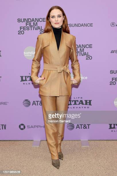 Evan Rachel Wood attends the 2020 Sundance Film Festival Kajillionaire Premiere at Eccles Center Theatre on January 25 2020 in Park City Utah