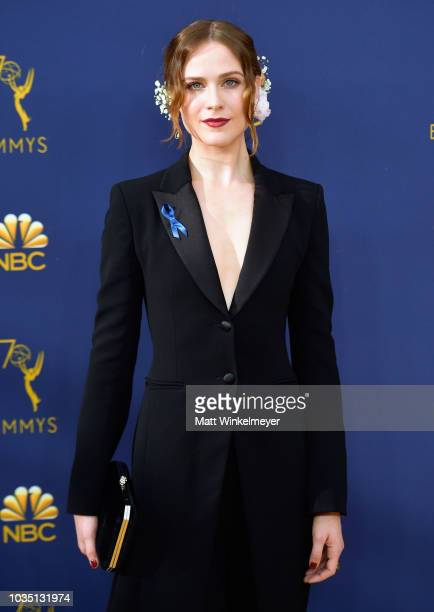 Evan Rachel Wood attends the 70th Emmy Awards at Microsoft Theater on September 17 2018 in Los Angeles California