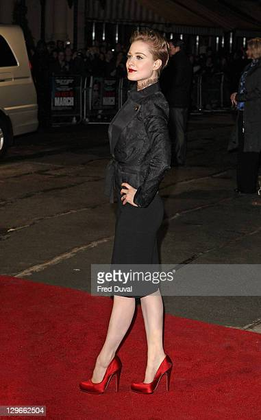 Evan Rachel Wood attends the gala screening of The Ides Of March at The 55th BFI London Film Festival at Odeon West End on October 19, 2011 in...