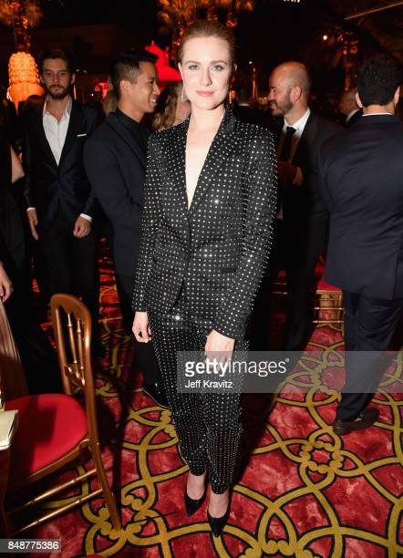 Evan Rachel Wood attends the HBO's Official 2017 Emmy After Party at The Plaza at the Pacific Design Center on September 17 2017 in Los Angeles...
