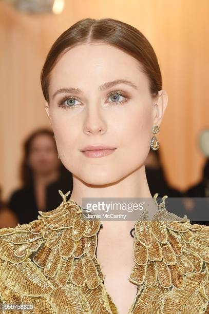 Evan Rachel Wood attends the Heavenly Bodies Fashion The Catholic Imagination Costume Institute Gala at The Metropolitan Museum of Art on May 7 2018...