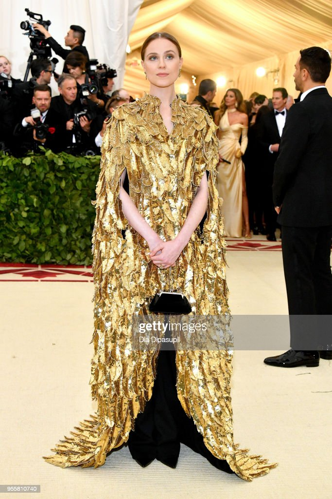 Evan Rachel Wood attends the Heavenly Bodies: Fashion & The Catholic Imagination Costume Institute Gala at The Metropolitan Museum of Art on May 7, 2018 in New York City.