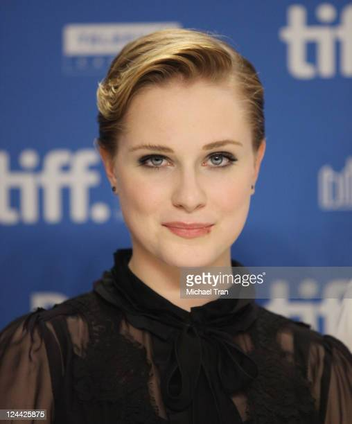 Evan Rachel Wood attends The Ides Of March press conference during the 2011 Toronto Film Festival held at TIFF Bell Lightbox on September 9 2011 in...