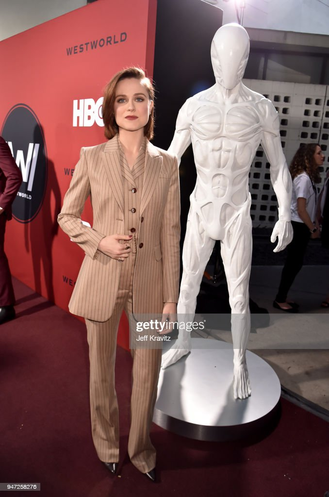 Evan Rachel Wood attends the Los Angeles Season 2 premiere of the HBO Drama Series WESTWORLD at The Cinerama Dome on April 16, 2018 in Los Angeles, California.