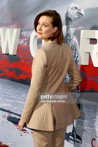 Evan Rachel Wood attends the premiere of HBO's Westworld Season 2 at The Cinerama Dome on April 16 2018 in Los Angeles California