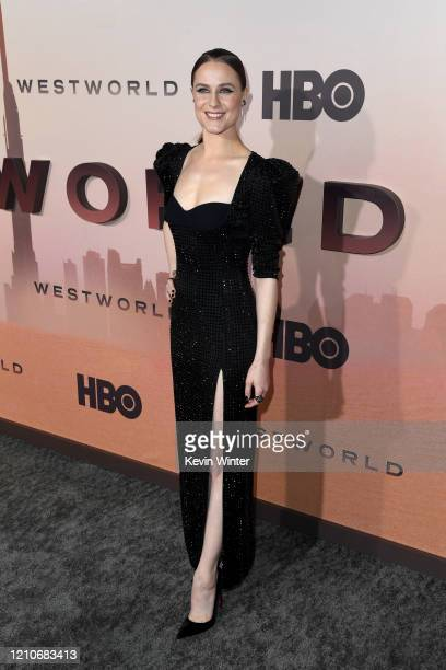 Evan Rachel Wood attends the Premiere of HBO's Westworld Season 3 at TCL Chinese Theatre on March 05 2020 in Hollywood California