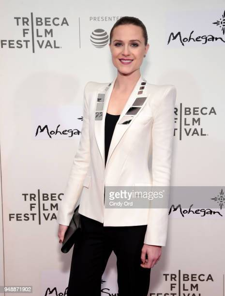 Evan Rachel Wood attends the premiere of Westworld during the 2018 Tribeca Film Festival at BMCC Tribeca PAC on April 19 2018 in New York City