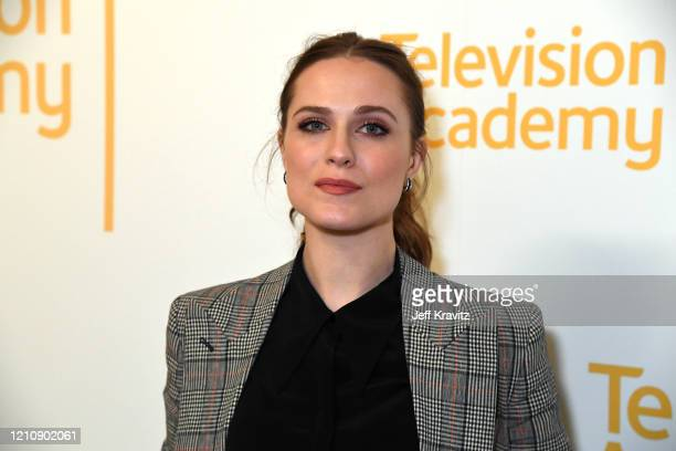 """Evan Rachel Wood attends the screening & panel discussion of the HBO drama series """"Westworld"""" at Wolf Theatre on March 06, 2020 in North Hollywood,..."""