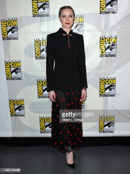 Evan Rachel Wood attends the Westworld III Panel during 2019 ComicCon International at San Diego Convention Center on July 20 2019 in San Diego...