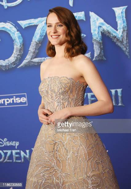 Evan Rachel Wood attends the world premiere of Disney's Frozen 2 held at Dolby Theatre on November 07 2019 in Hollywood California