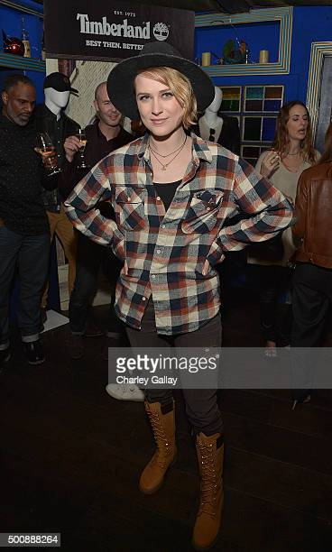 Evan Rachel Wood attends Timberland Celebrates Winter On the Modern Trail With Stylist Samantha McMillen on December 10 2015 in Los Angeles California