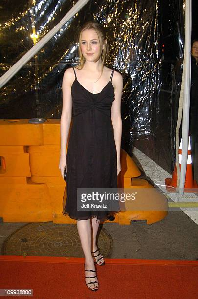 Evan Rachel Wood during Cold Mountain Los Angeles Premiere at Mann National Theater in Los Angeles California United States
