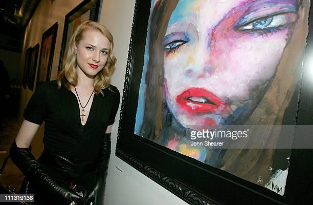 Evan Rachel Wood during Marilyn Manson Opens Art Gallery on Halloween in Los Angeles, California, United States.