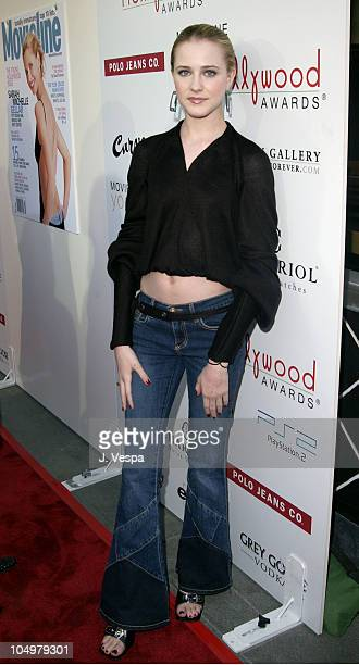 Evan Rachel Wood during Movieline's 4th Annual Young Hollywood Awards Arrivals at The Highlands in Hollywood California United States