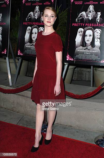 Evan Rachel Wood during Pretty Persuasion Los Angeles Premiere Arrivals at ArcLight Theatre in Hollywood California United States