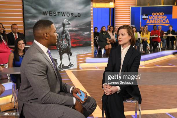 AMERICA Evan Rachel Wood is a guest on 'Good Morning America' Thursday April 19 airing on the ABC Television Network MICHAEL