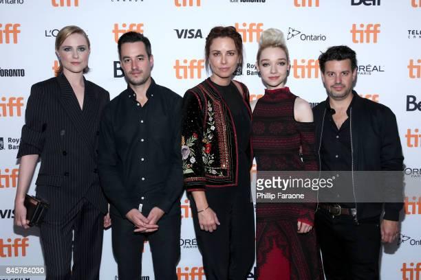 Evan Rachel Wood Jason Sanchez Maxim Roy Julia Sarah Stone and Carlos Sanchez attend the 'A Worthy Companion' premiere during the 2017 Toronto...