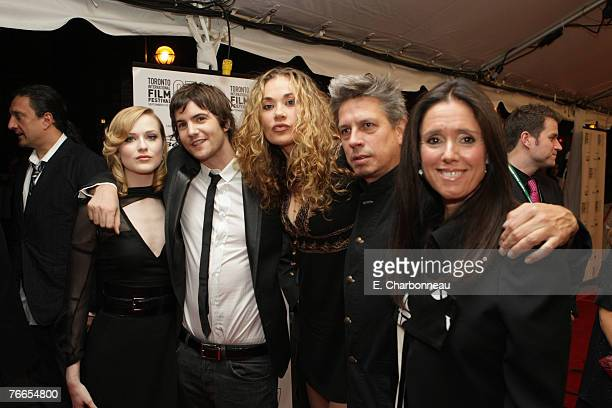 Evan Rachel Wood Jim Sturgess Dana Fuchs Elliot Goldenthal and Director Julie Taymor at the Gala Screening of Sony Pictures Across The Universe...