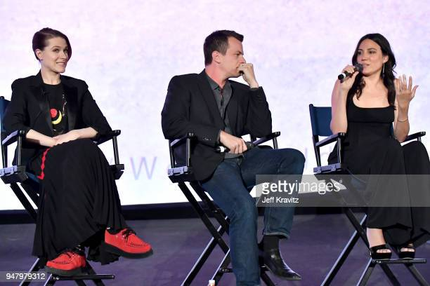 Evan Rachel Wood Jonathan Nolan and Joy Nolan attend the FYC Event for HBO's WESTWORLD Season 2 at ArcLight Cinemas Cinerama Dome on April 17 2018 in...