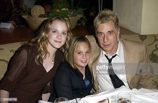 Evan Rachel Wood Julie Pacino and Al Pacino during 'Simone' Premiere AfterParty at Napa Grille in Westwood California United States