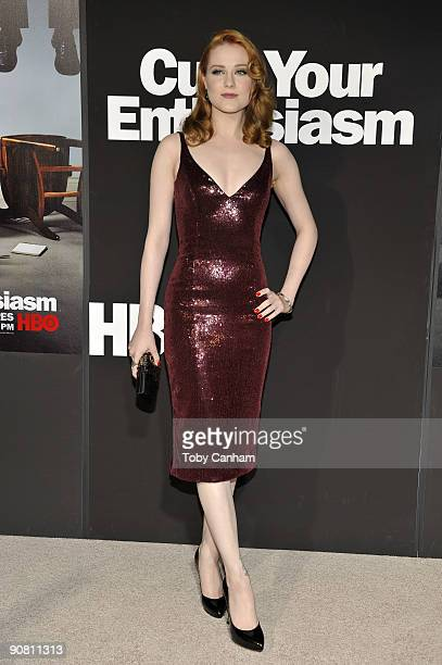 Evan Rachel Wood poses for a picture at the premiere of HBO's Curb Your Enthusiasm season 7 held at Paramount Studios on September 15 2009 in Los...