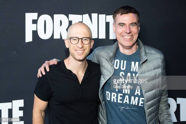 Evan Richter and Eric Garland attend the Epic Games Hosts Fortnite Party Royale on June 12 2018 in Los Angeles California
